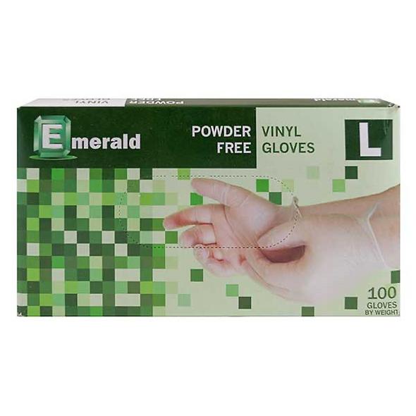 Emerald Powder Free Vinyl Gloves