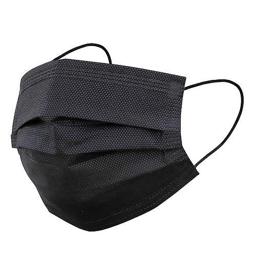 50- Pack 3- Ply Black Disposable Masks