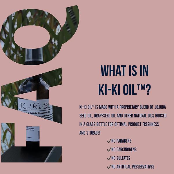 what is in ki-ki oil, ki-ki oil, hair oil, how to help my hair grow, vegan hair oil, natural oil