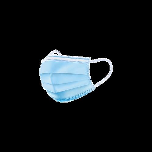 50- Pack 3- Ply Blue Children's Disposable Masks