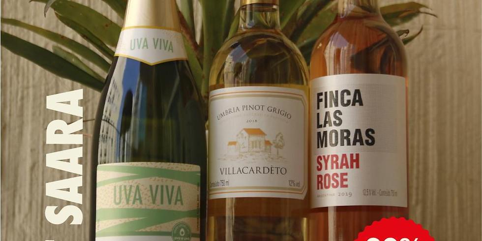 Promoção Saara - 3 garrafas de vinho