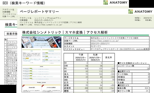 アクセス解析レポート