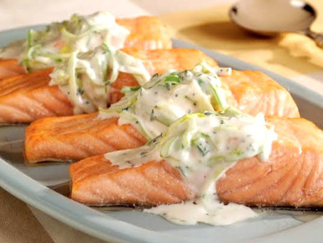 Ginger Salmon with Cream Sauce