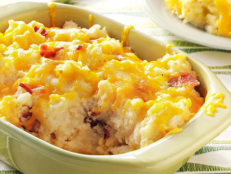 Baked Mashed Potato with Cheese