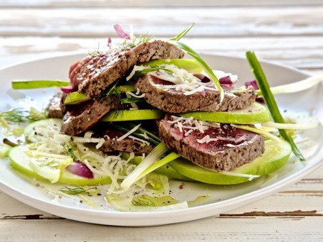 Beef with Apple Salad