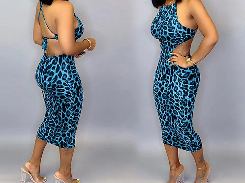 """Blue Leopard Babe"" Dress"