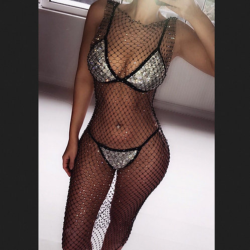 Sexy Fishnet Cover Up
