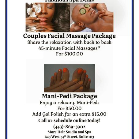 Enjoy our spa specials