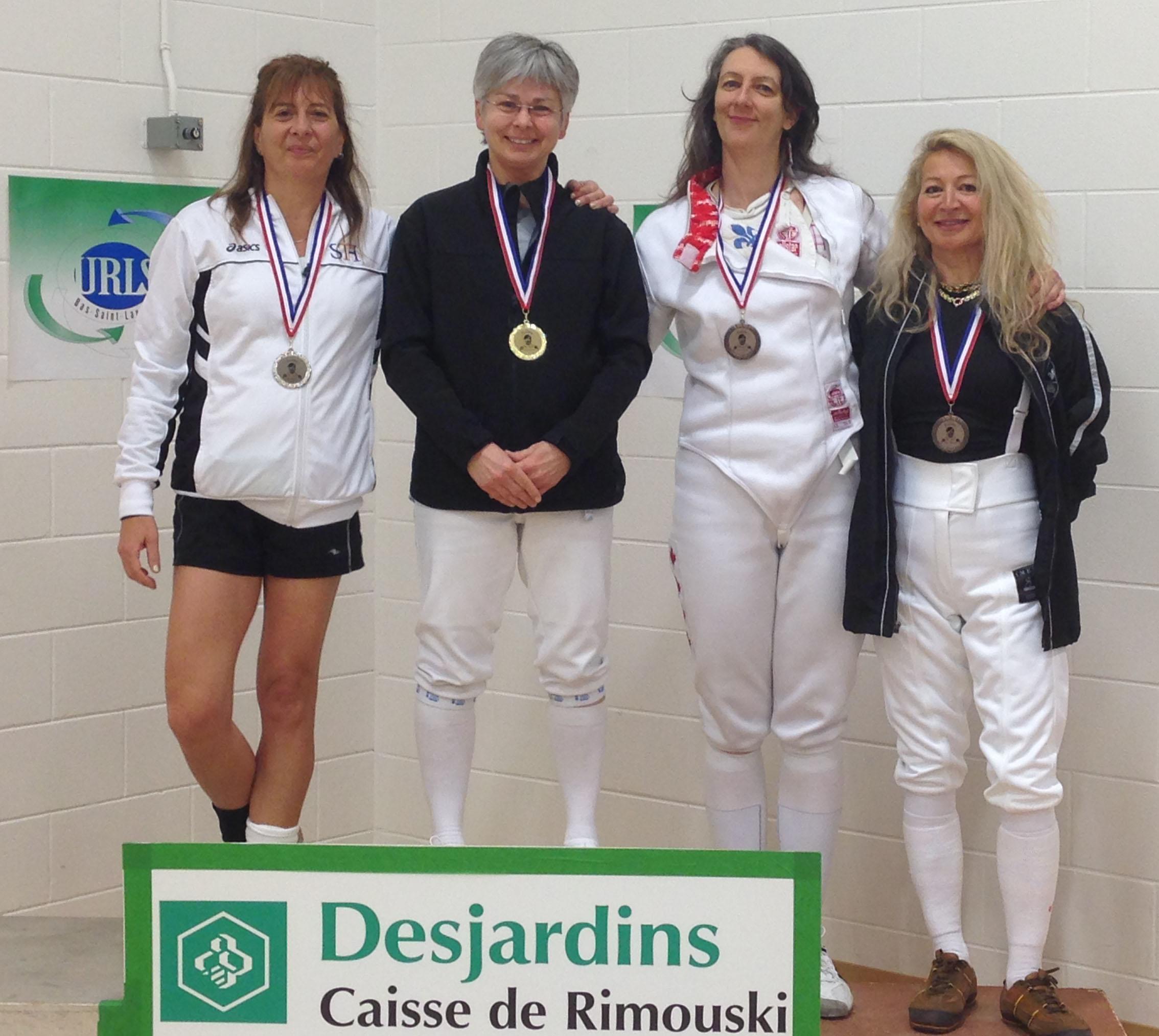 2016-04-02 podium Sabre Fem Vétérans