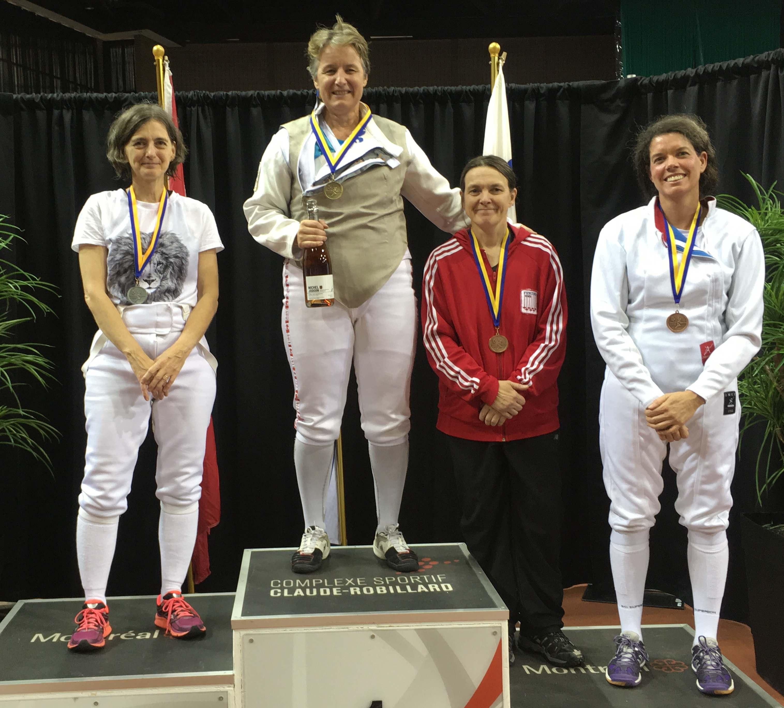 2017-09-24 podium Fleuret Féminin vétérans m