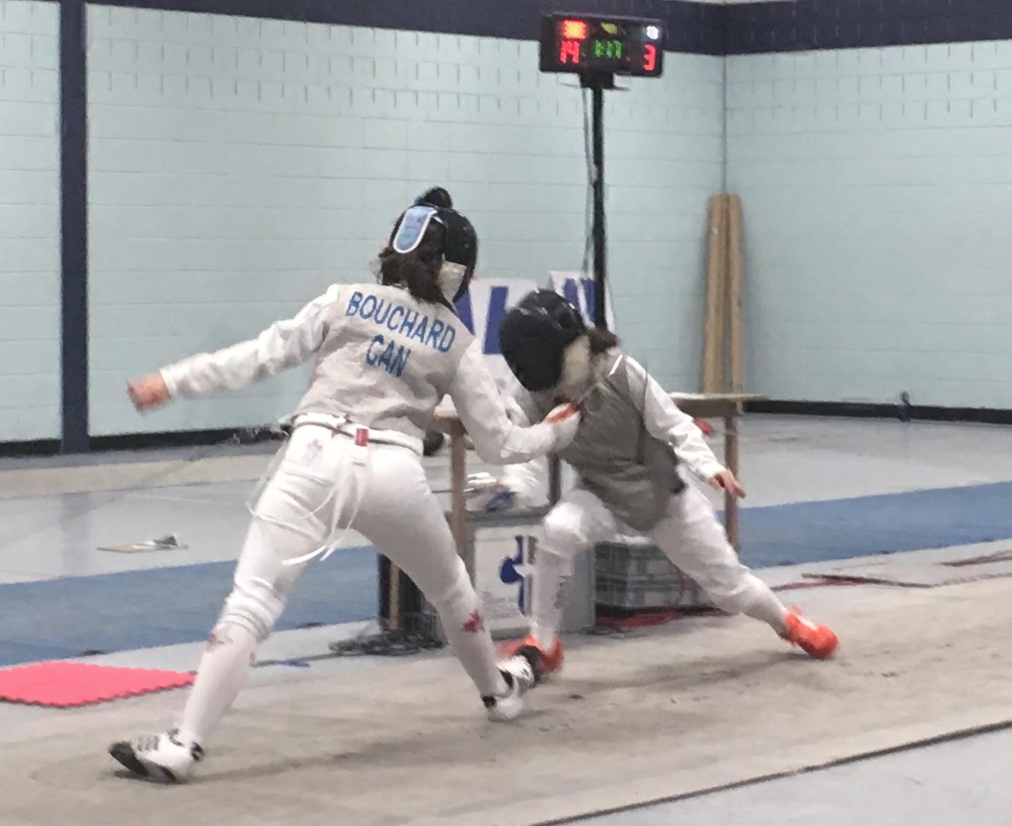 Maryanne Bouchard en combat