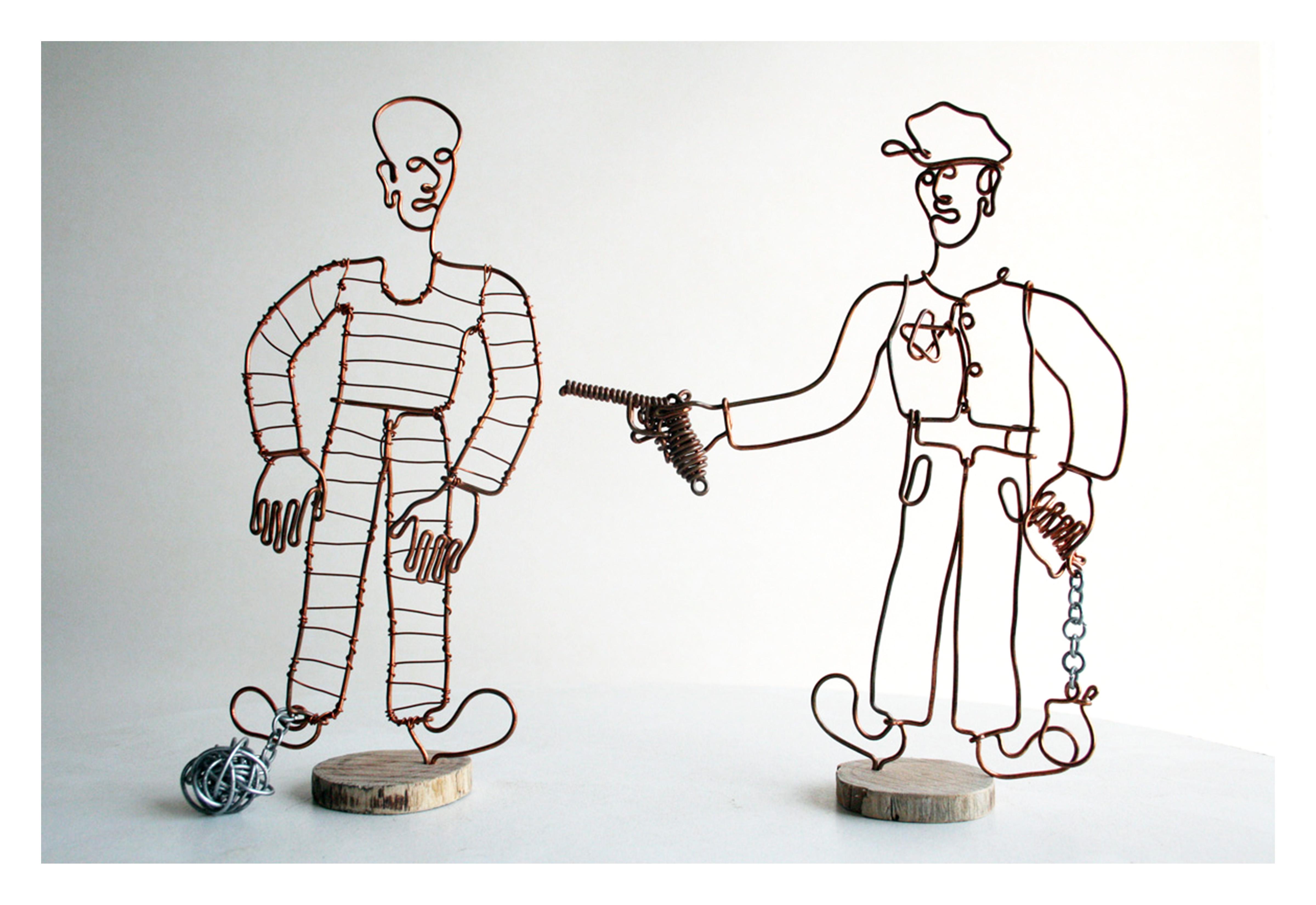 Police and prisoner