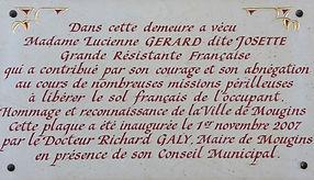 Lucienne Gérard, résistante