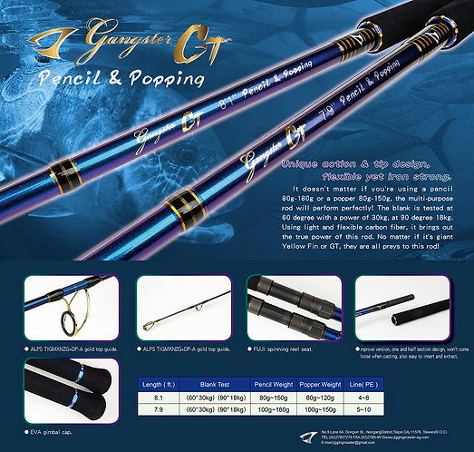 Jigging Master Gangster GT Pencil and Popping