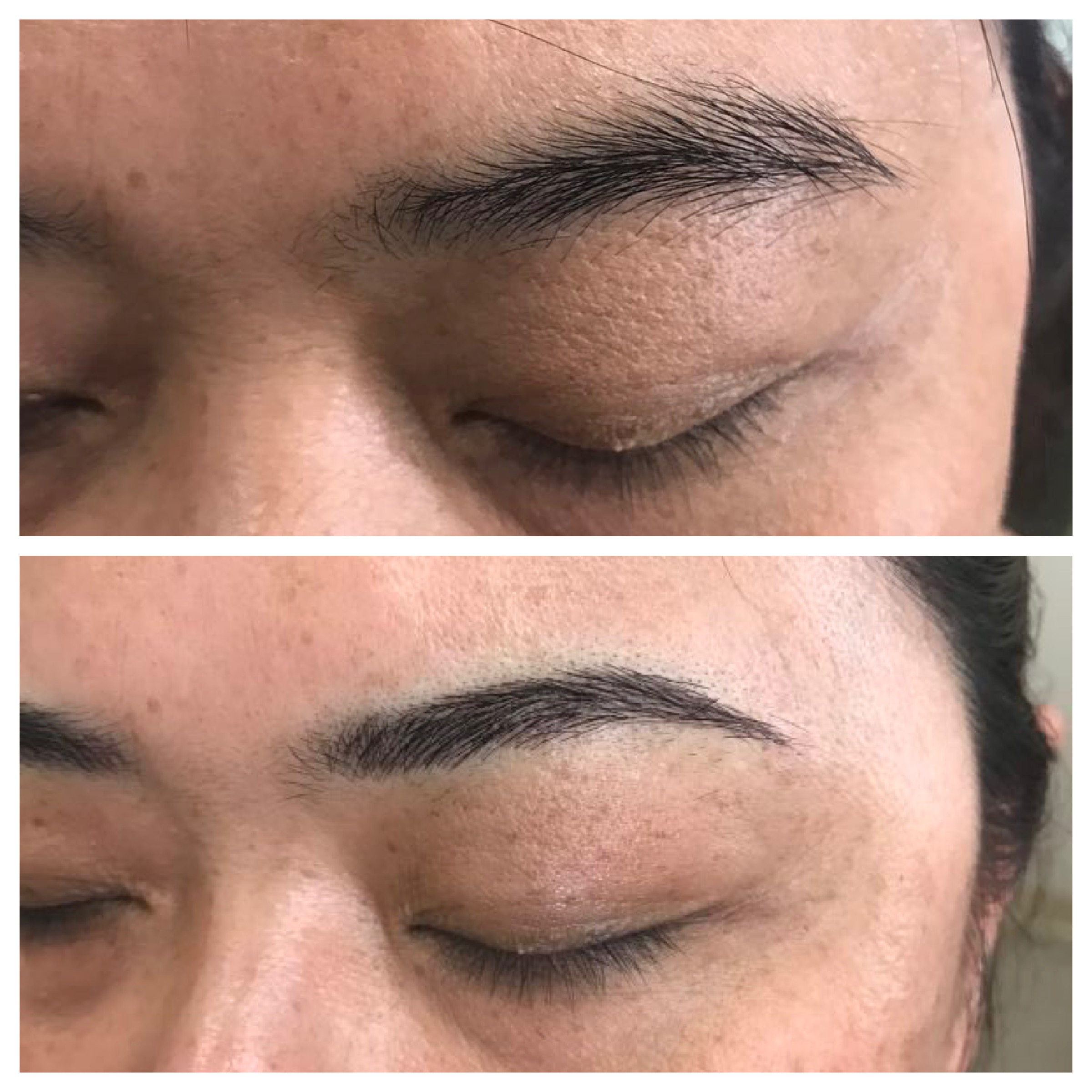 Shapping the brow