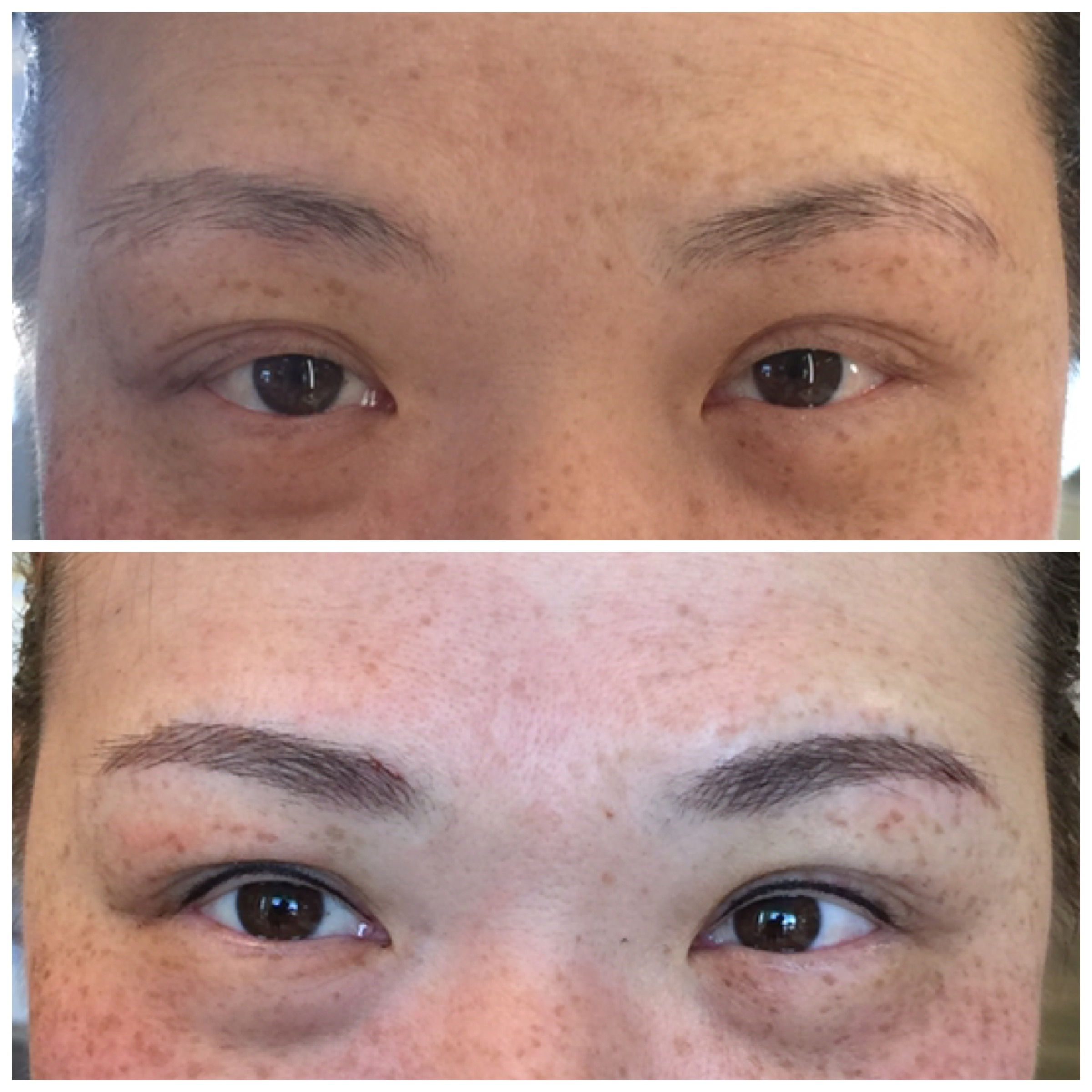 Microblading + invisible eyeliner