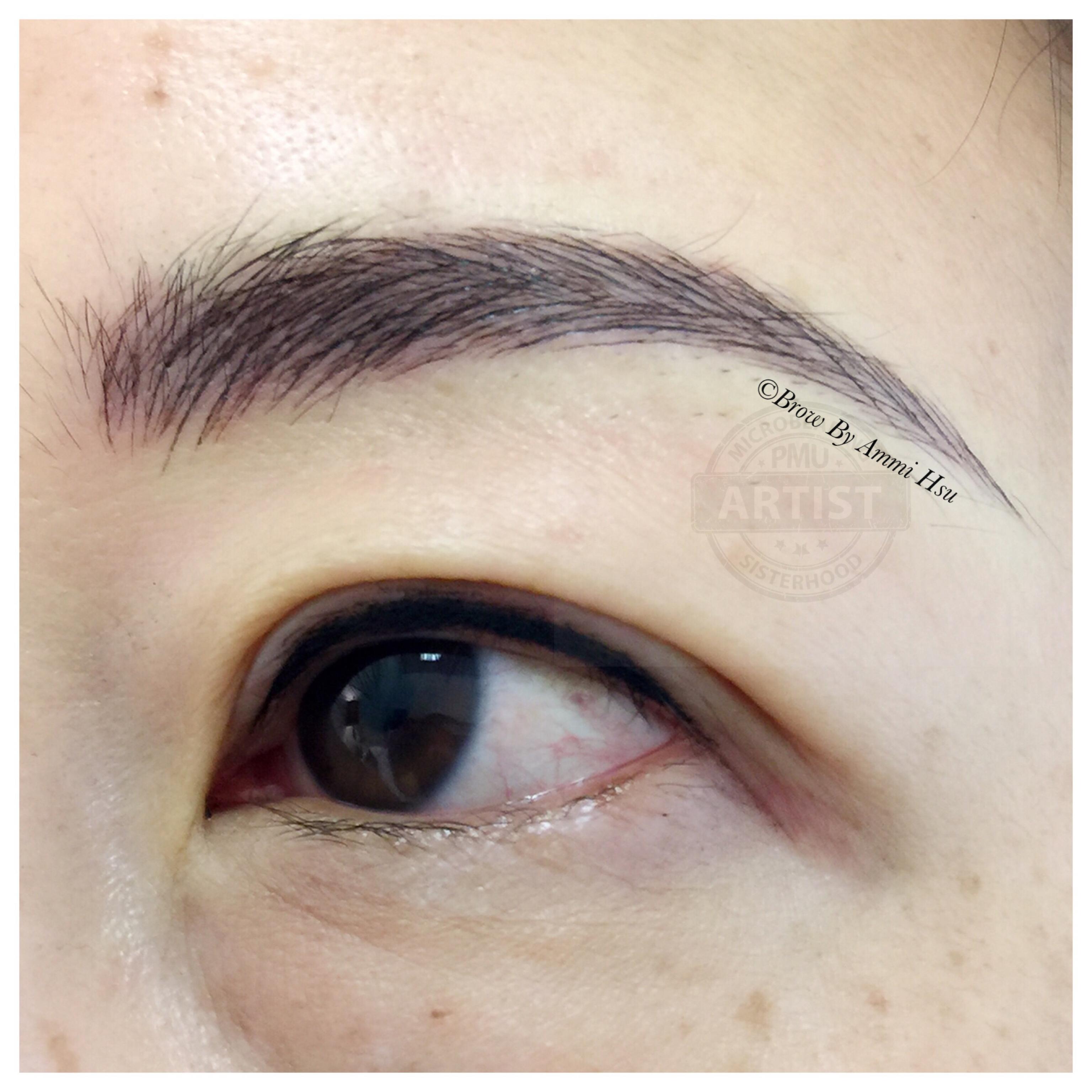 3d microblading + eyeliner