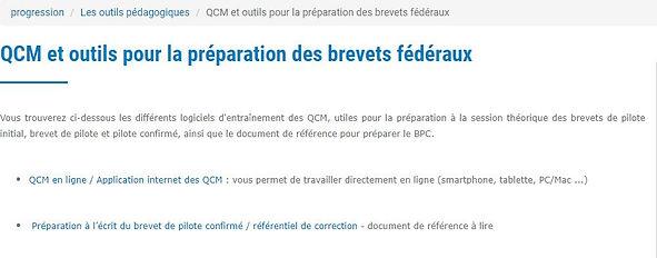 QCM pour le brevet de pilote et brevet de pilote confirmé