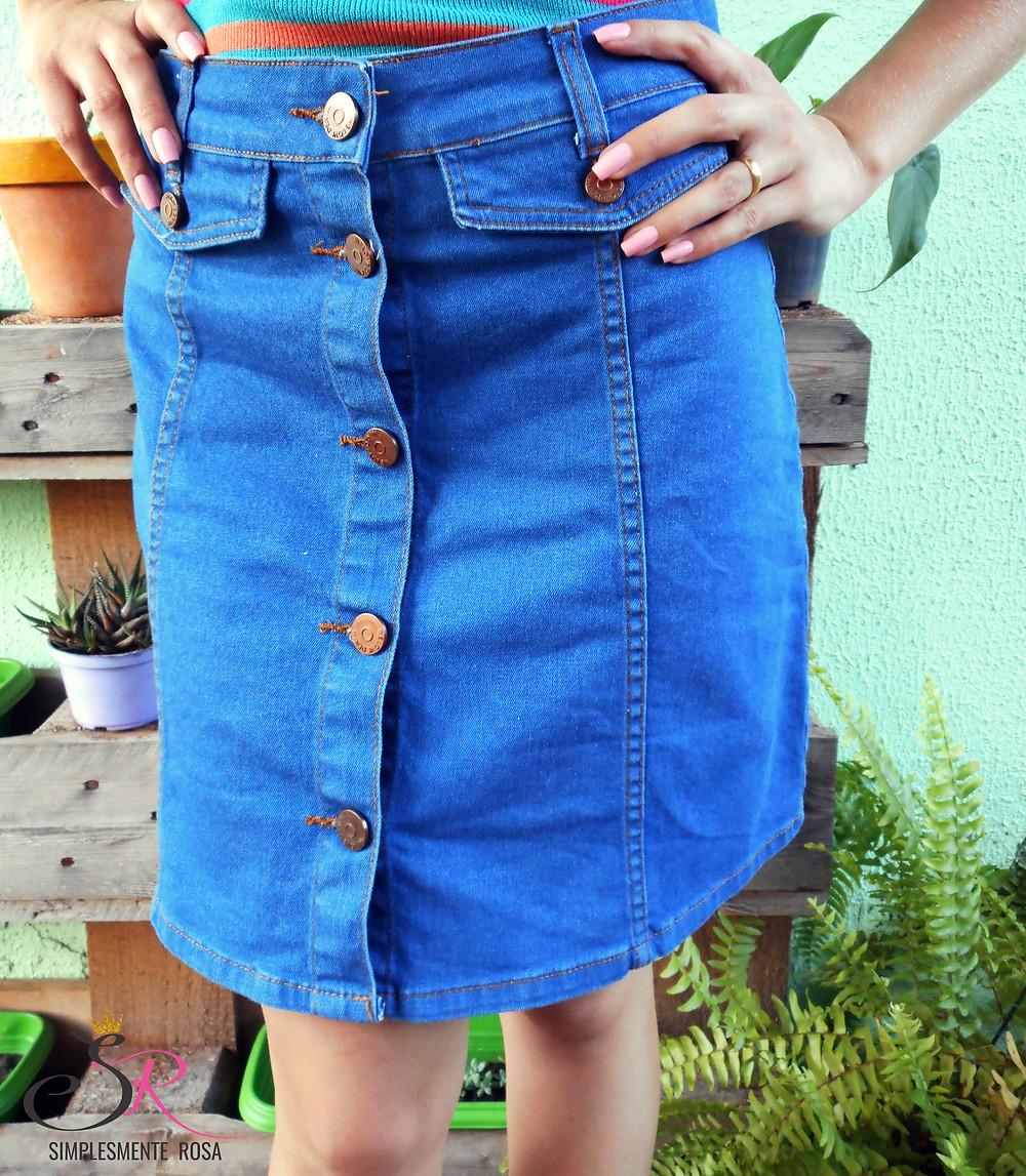 Saia-jeans-de-botões
