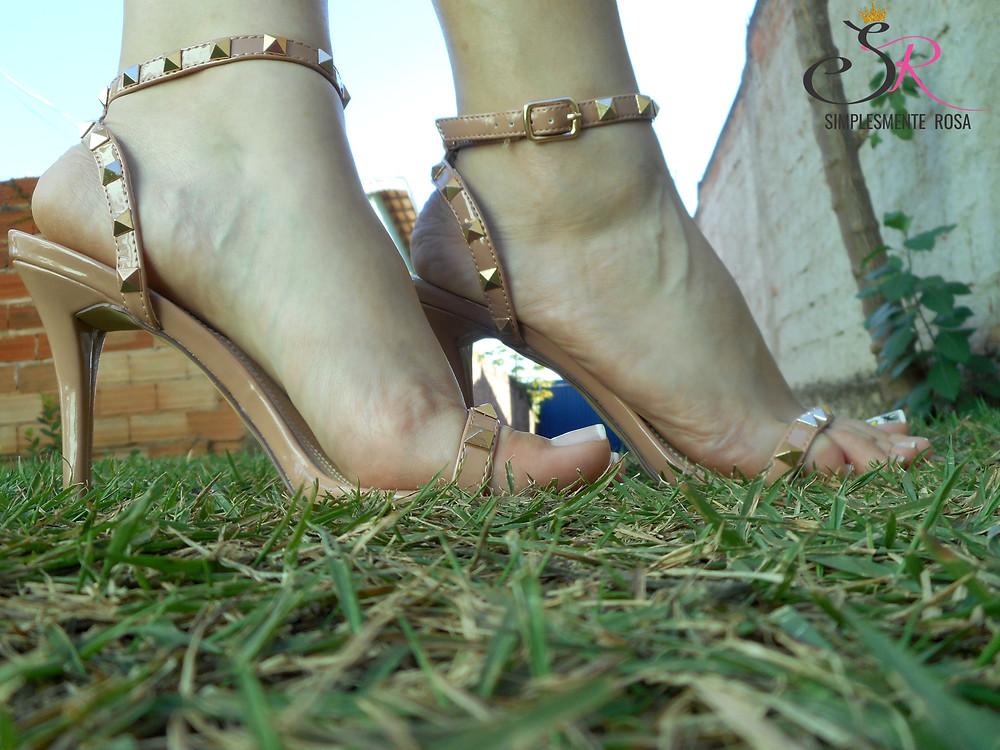 Sandália-nude