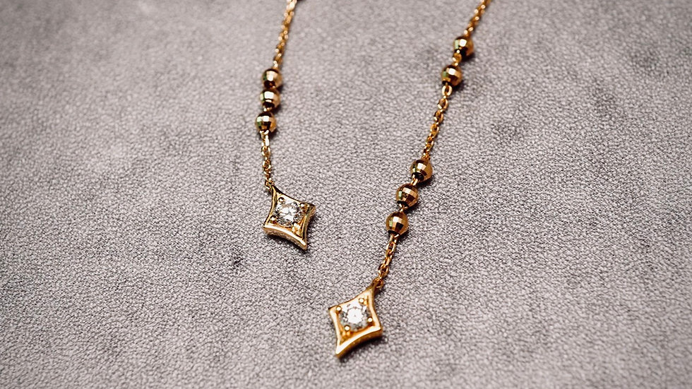 18K 鑽石星芒耳環墜