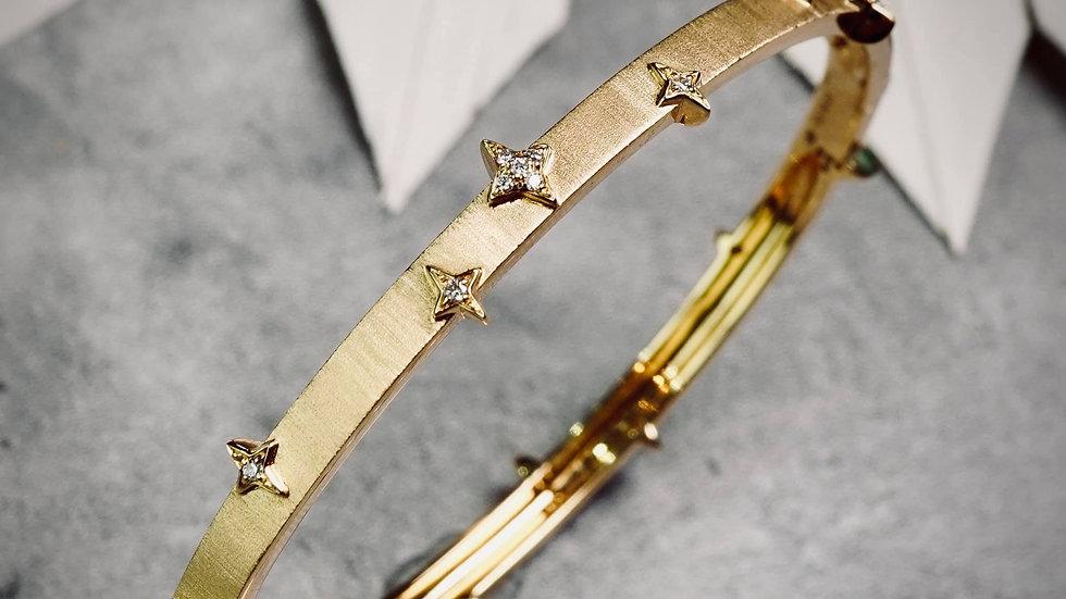 18K 厚金星芒手環(客訂製作款)