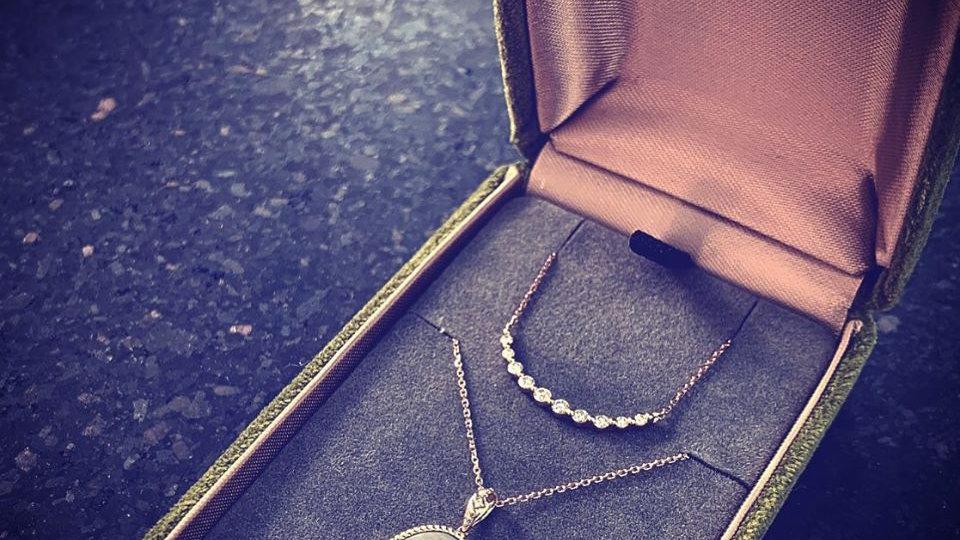 18K 微笑鑽石項鏈