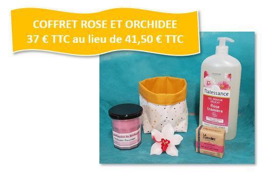 COFFRET PRESTIGE ROSE ET ORCHIDEE