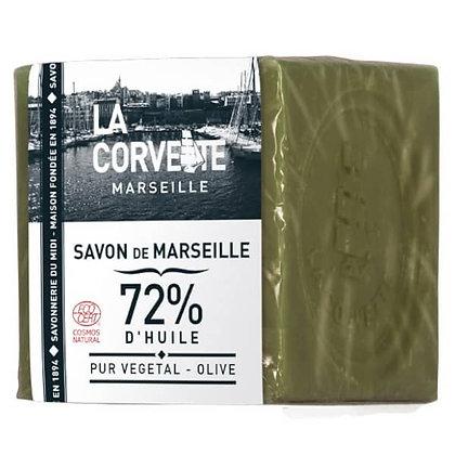 LA CORVETTE SAVON DE MARSEILLE 72% d'HUILE VEGETALE 500G