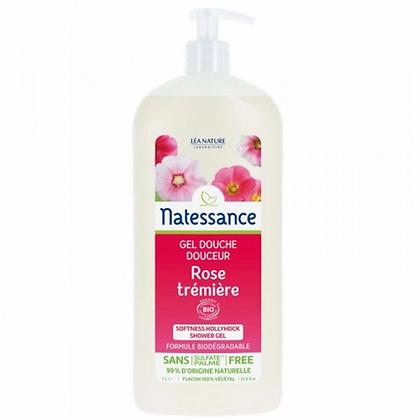 GEL DOUCHE ROSE TREMIERE BIO NATESSANCE 1L
