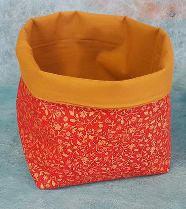 Corbeille rouge motif Noël