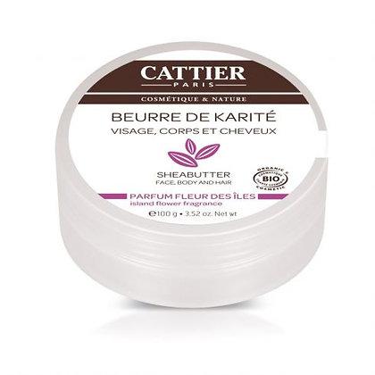 CATTIER BEURRE DE KARITE FLEUR DES ÎLES 100G