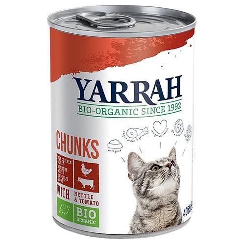 Yarrah Huhn & Rind Chunks 405g