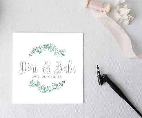 Esküvői logo készítés