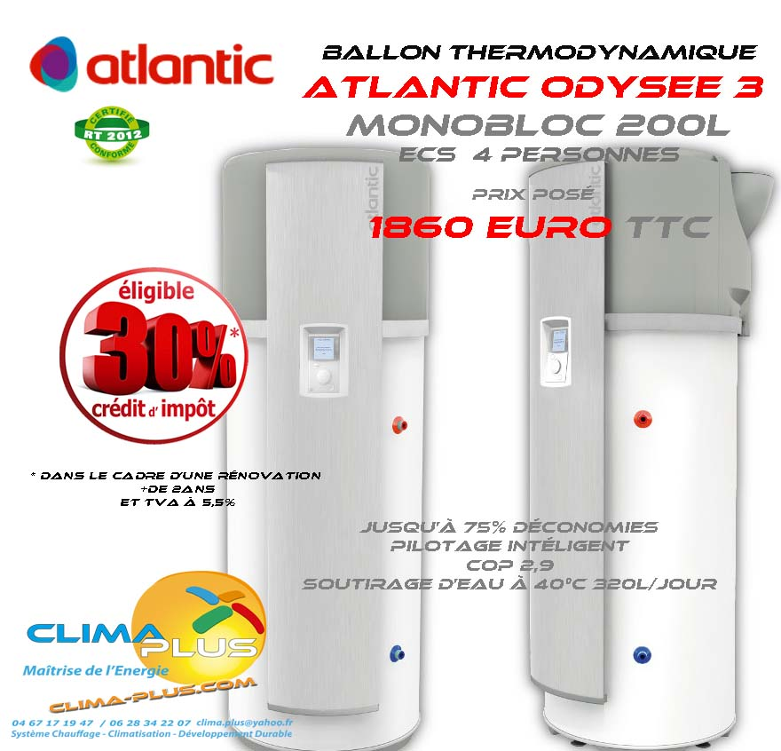 Ballon Thermodynamique Atlantic ODYSSEE