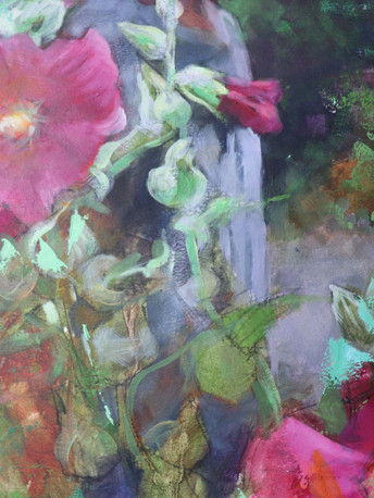 I am working on arches oil paper using oil paint and cold wax medium.  I will be teaching a TRIOS class online introducing this beautiful  combination soon!  Email me if you would like to be invited to this class when it's available.  doartworx@gmail.com