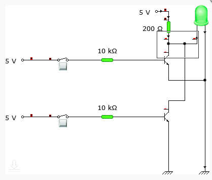Circuit connection when both inputs are LOW
