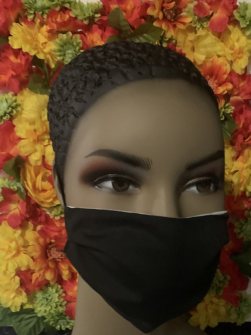 Pleated Solid color cotton mask