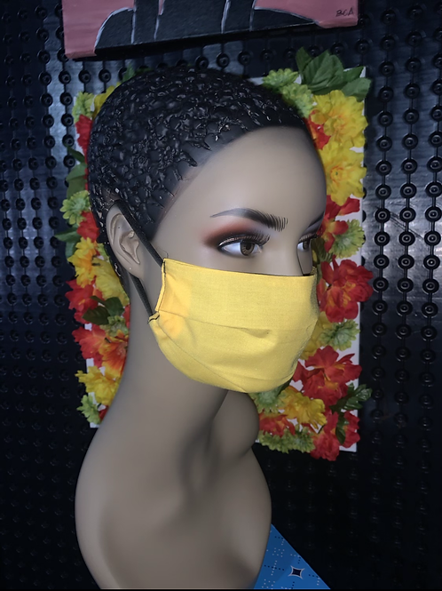 Sunshine Pleated face mask