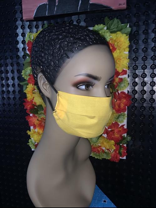 Sunshine Pleated face mask
