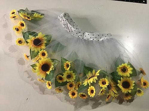 Floating flower skirt (sunflowers)