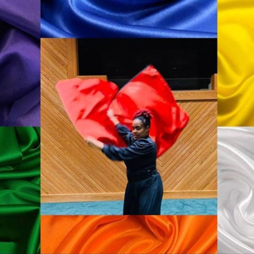 Single Satin layer flags