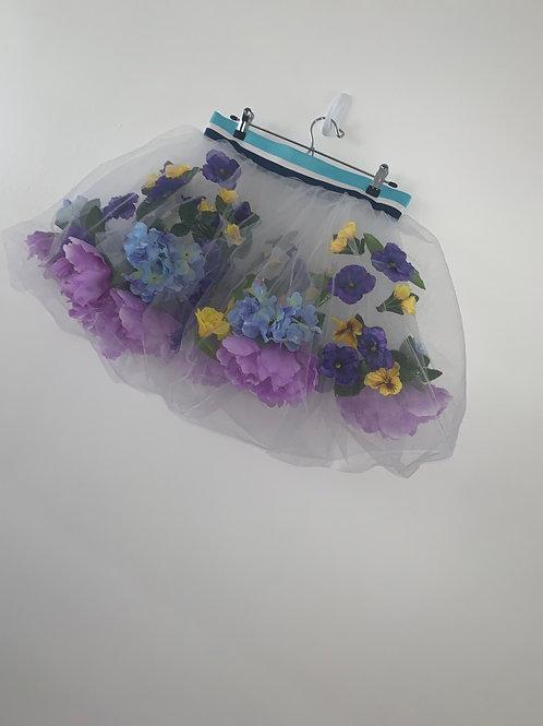 Floating flower skirt (blue large)