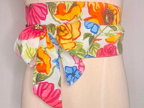 Floral waist belt