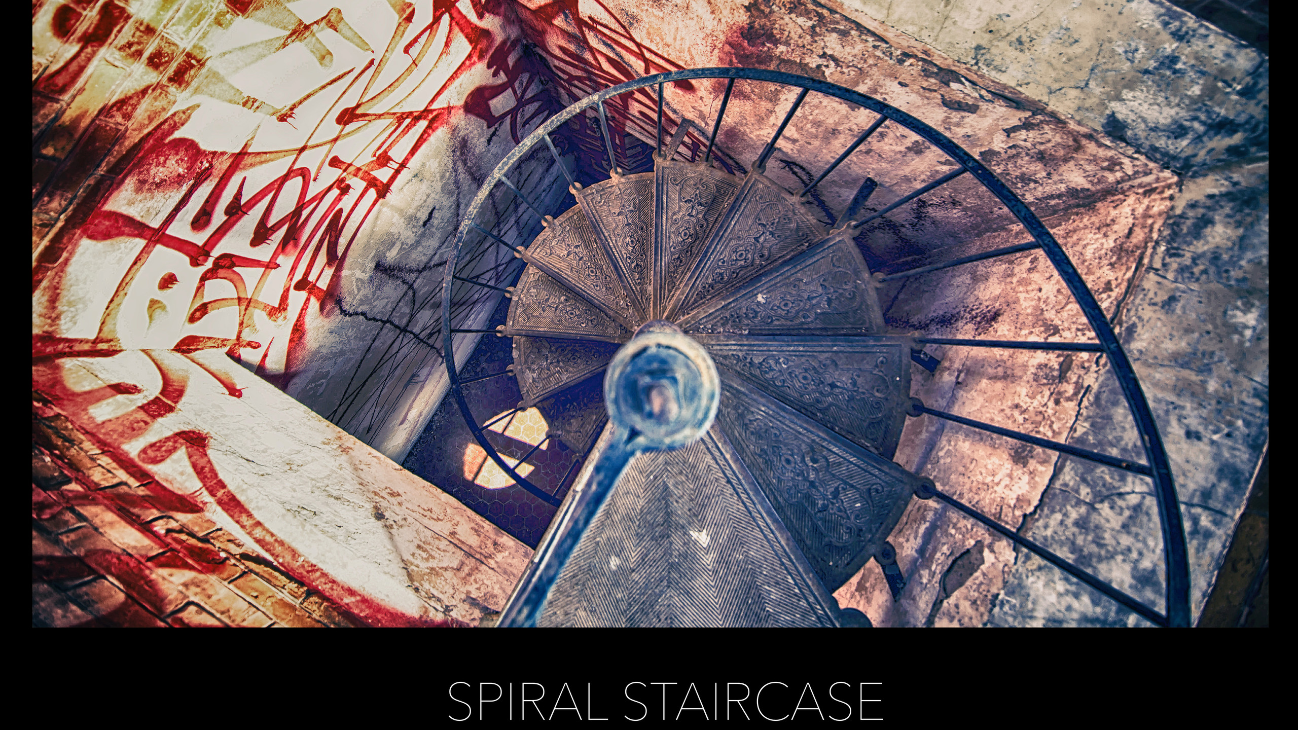 POSTER SPIRAL STAIRCASE