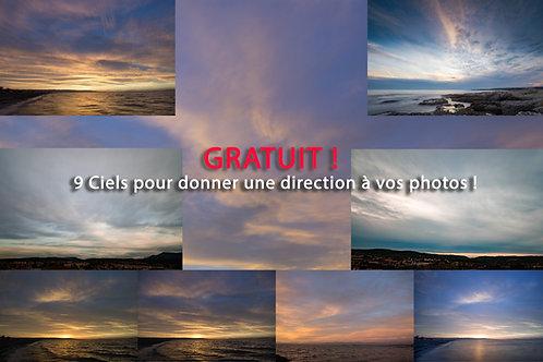 9 Ciels Gratuits pour donner une direction à votre photo !