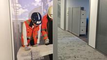 Deux Nouveaux murs VINYL - VINCI Nanterre