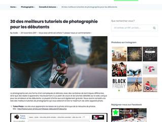 11eme au TOP30 des meilleurs sites Tutoriels Photographiques par Photobox
