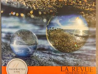 En couverture d'un Magazine Immobilier publié par l'agence Les Propriétés du Golfe à Sète.