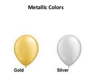 Metallic Balloon Colours (Gold, Silver)